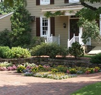 Landscape in front of a House, Landscape Lighting in Drexel Hill, PA